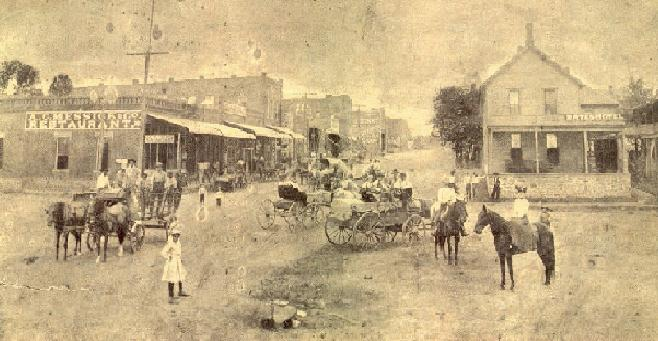 Court Street in Atoka, Oklahoma while it was still Indian Territory (Internet image)